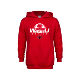 Youth Red Fleece Hoodie-Soccer Design