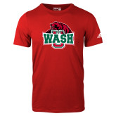 Adidas Red Logo T Shirt-Wash U w/Bear