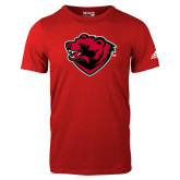 Adidas Red Logo T Shirt-Bear Head