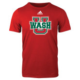 Adidas Red Logo T Shirt-WashU