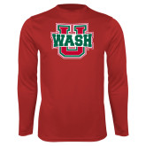 Performance Red Longsleeve Shirt-WashU