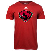 Adidas Climalite Red Ultimate Performance Tee-Bear Head