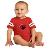 Vintage Red Jersey Onesie-Bear Head