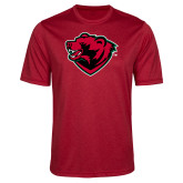 Performance Red Heather Contender Tee-Bear Head