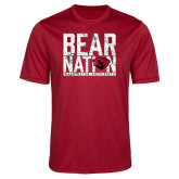 Performance Red Heather Contender Tee-Bear Nation