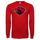 Red Long Sleeve T Shirt-Bear Head