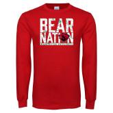 Red Long Sleeve T Shirt-Bear Nation