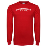 Red Long Sleeve T Shirt-Arched
