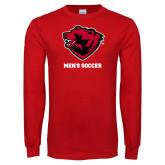 Red Long Sleeve T Shirt-Mens Soccer