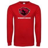 Red Long Sleeve T Shirt-Womens Soccer