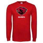Red Long Sleeve T Shirt-Grandpa