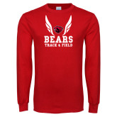 Red Long Sleeve T Shirt-Track and Field Design