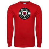 Red Long Sleeve T Shirt-Womens Soccer Design