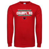 Red Long Sleeve T Shirt-2019 UAA Womens Basketball Champions