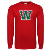 Red Long Sleeve T Shirt-W