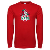 Red Long Sleeve T Shirt-Youth Mark