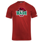 Russell Core Performance Red Tee-Wash U w/Bear