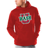 Under Armour Red Armour Fleece Hoodie-WashU