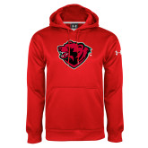 Under Armour Red Performance Sweats Team Hoodie-Bear Head