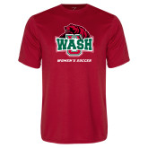 Performance Red Tee-Womens Soccer