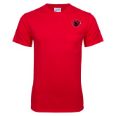 Red T Shirt w/Pocket-Bear Head