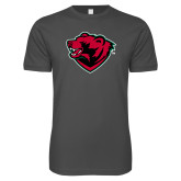 Next Level SoftStyle Charcoal T Shirt-Bear Head