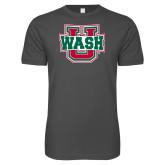 Next Level SoftStyle Charcoal T Shirt-WashU