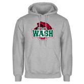 Grey Fleece Hoodie-Wash U w/Bear