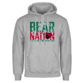 Grey Fleece Hoodie-Bear Nation