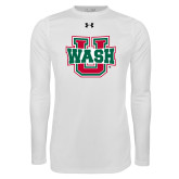 Under Armour White Long Sleeve Tech Tee-Wash U