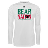 Under Armour White Long Sleeve Tech Tee-Bear Nation