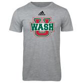Adidas Sport Grey Logo T Shirt-WashU