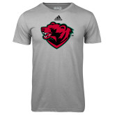 Adidas Climalite Sport Grey Ultimate Performance Tee-Bear Head