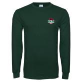 Dark Green Long Sleeve T Shirt-Wash U w/Bear