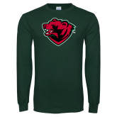 Dark Green Long Sleeve T Shirt-Bear Head