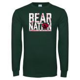Dark Green Long Sleeve T Shirt-Bear Nation