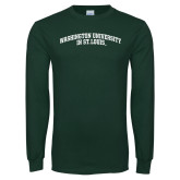 Dark Green Long Sleeve T Shirt-Arched