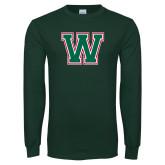 Dark Green Long Sleeve T Shirt-W