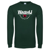 Dark Green Long Sleeve T Shirt-Basketball Bar