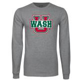 Grey Long Sleeve T Shirt-Wash U