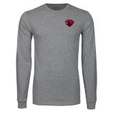 Grey Long Sleeve T Shirt-Bear Head