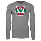 Grey Long Sleeve T Shirt-WashU