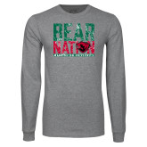 Grey Long Sleeve T Shirt-Bear Nation