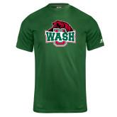 Russell Core Performance Dark Green Tee-Wash U w/Bear