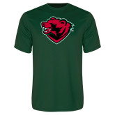 Performance Dark Green Tee-Bear Head