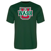 Performance Dark Green Tee-WashU