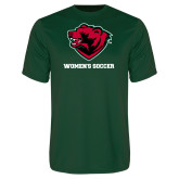 Performance Dark Green Tee-Womens Soccer