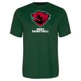 Performance Dark Green Tee-Mens Basketball