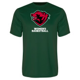 Performance Dark Green Tee-Womens Basketball