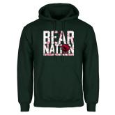 Dark Green Fleece Hood-Bear Nation
